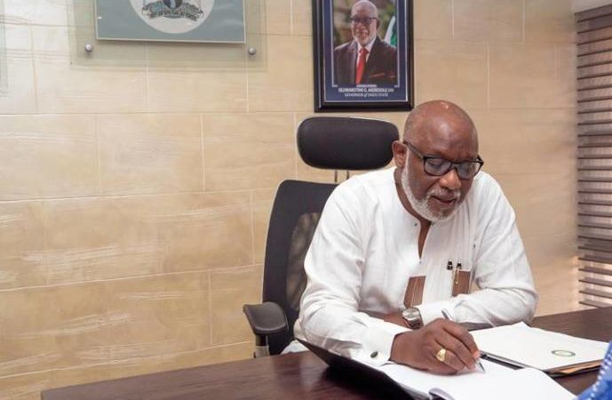 Photo of Governor Akeredolu spent over N160m on party members, leaders for Christmas celebration