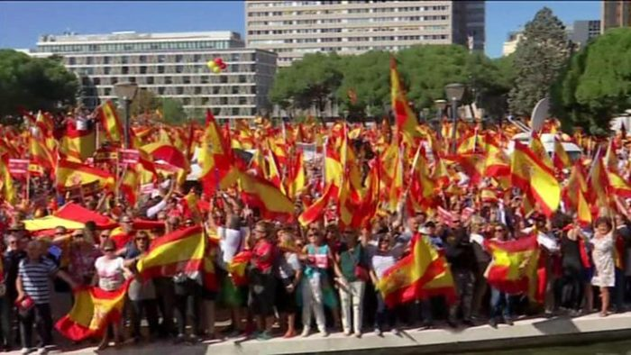 Photo of Spain must not split, thousands rally for unity