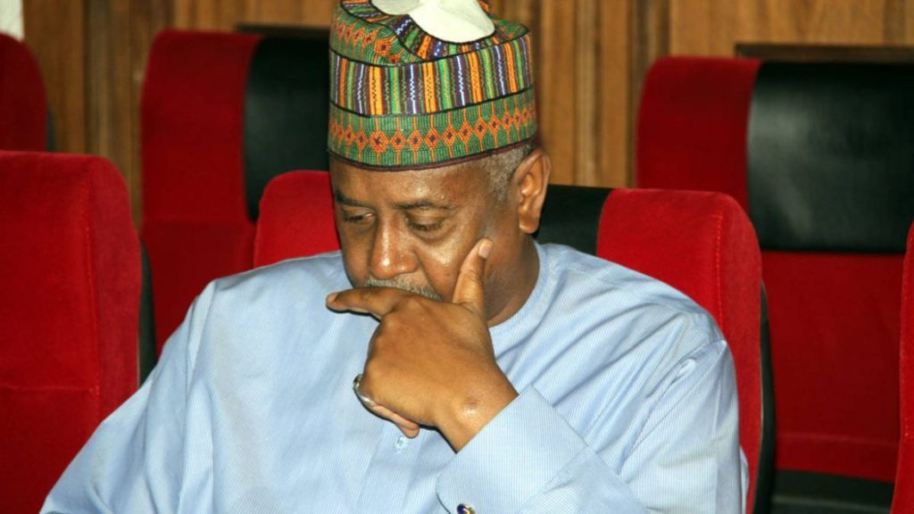 Photo of Ex-NSA Dasuki returns to prison, case adjourned till January 2018