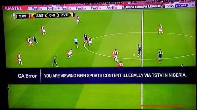 Photo of BeIN Sports accuses TSTV subscribers of illegal Viewing of Europa League Match
