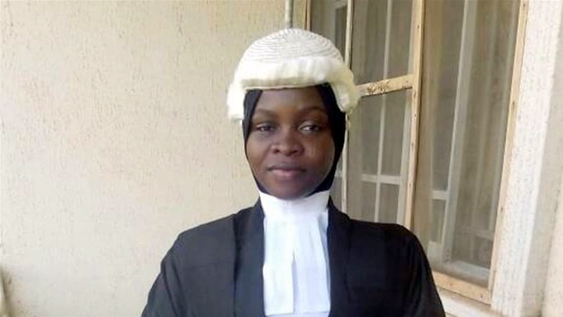 Photo of Nigerian law graduate denied call to bar for wearing hijab