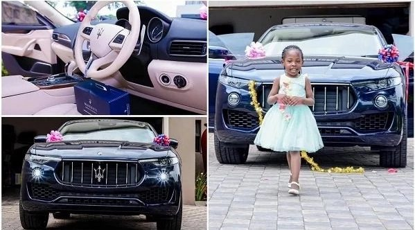 Photo of PHOTO: Popular pastor buys daughter N27m Maserati Levante to mark birthday