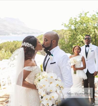Photo of Banky W, Adesua's wedding showing on DSTV