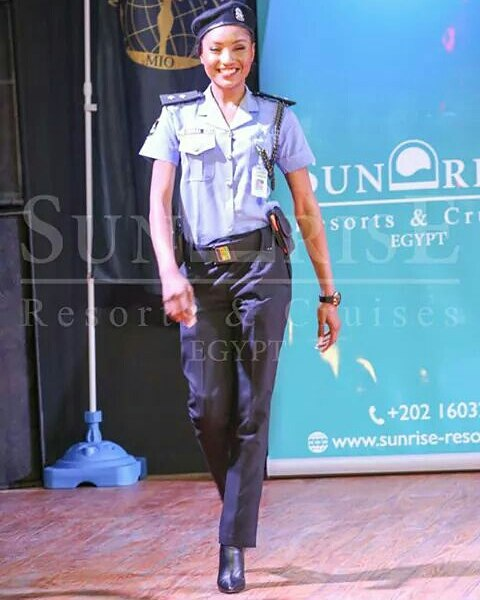 Photo of Nigerian Beauty Queen In Police Uniform Emerges Miss Intercontinental Africa