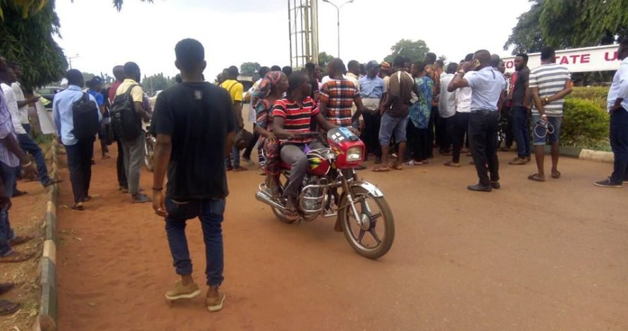 Photo of Kogi varsity students protest death of student