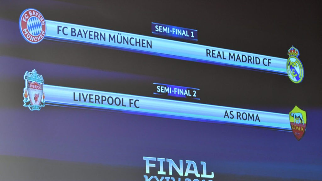Photo of UEFA Champions League semi-final draw: Liverpool to play Roma as Madrid face Bayern
