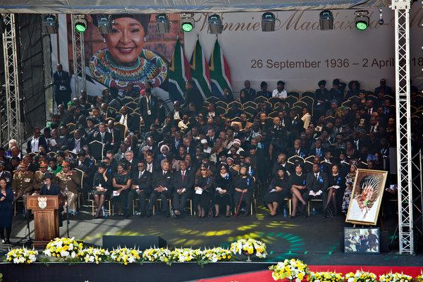 Photo of South Africa Buries Nelson Mandela's Wife, Winnie Mandela Today Aimed Tears