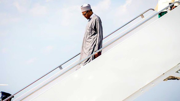Photo of Buhari arrives Nigeria after U.S. visit