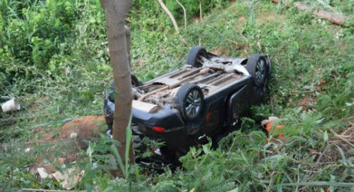 Photo of 2-year-old boy rescued as SUV falls into gully