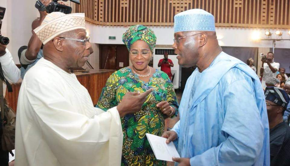 Photo of Obasanjo, Atiku Reconcile Ahead Of 2019 Election