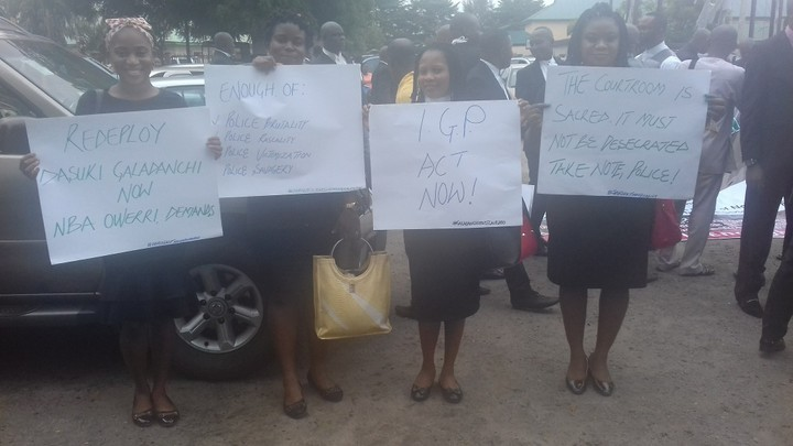 Photo of Lawyers Protest Against Police Brutality In Imo