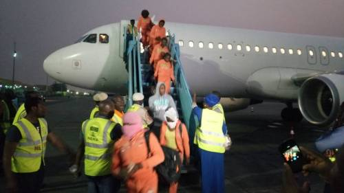 Photo of 3 Sick Nigerians, 177 Others Deported From Libya Arrive Lagos