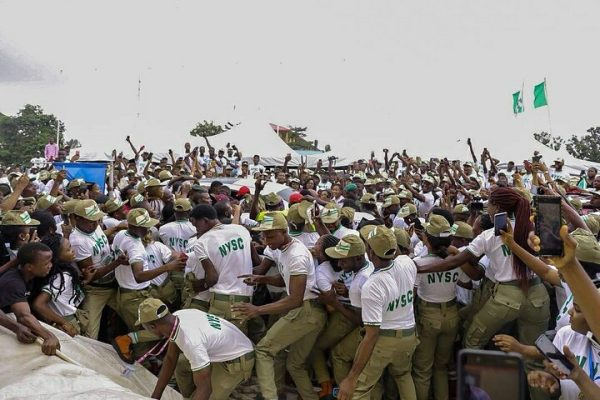 Photo of Lagos NYSC Camp: Davido's Arrival Causes Commotion At NYSC Camp