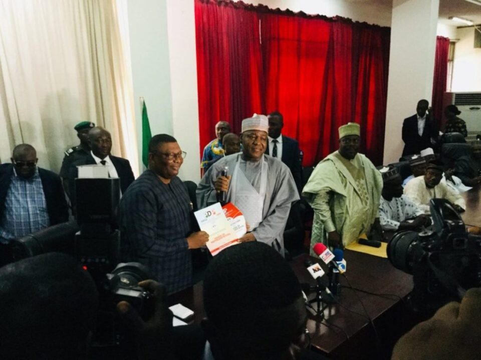 Photo of Yakubu Dogara Storms PDP Headquarters To Submit Nomination Forms
