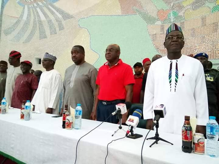Photo of PDP: David Mark, Suswam hands over party's structure to Gov Ortom in Benue
