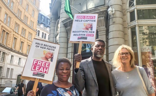 Photo of Dapchi Girls: 200 Days After Sharibu's Abduction, Omokri Leads Protest In London