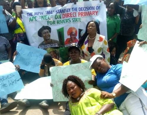 Photo of Rivers APC Protest In Abuja Over Replace Tonye Cole With Magnus Abe