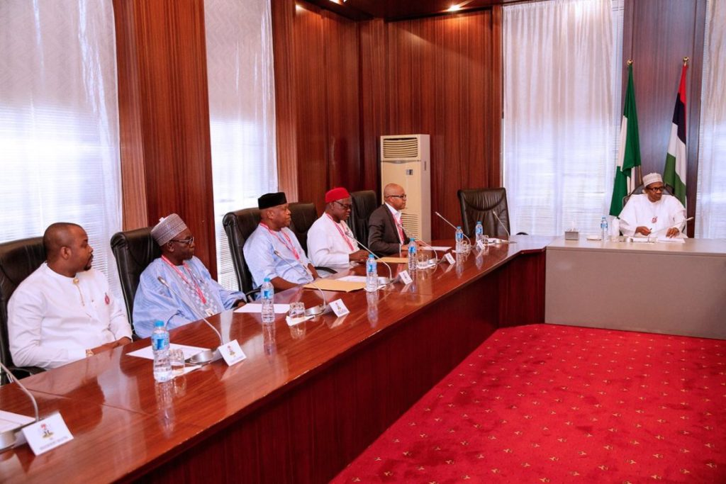 Photo of Buhari, Oshiomole Meets South East APC Leaders In Aso Rock
