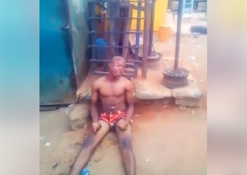 "Photo of Confusion In Edo As Yahoo Boy ""Runs Mad"" After His Father's Death"