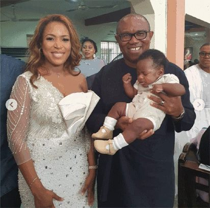 Photo of PDP VP, Peter Obi Attends Linda Ikeji's Child Dedication Ceremony