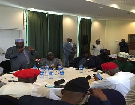 Photo of 15 Presidential Candidates Meets Atiku In Abuja