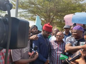 Photo of Charlyboy, protesters storm US Embassy over Onnoghen's Suspension
