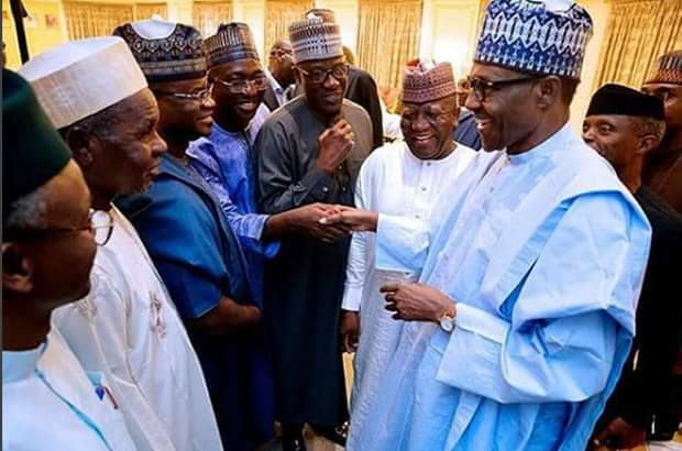 Photo of Buhari Meets APC Governors In Aso Rock
