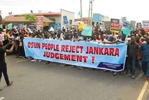 Photo of Protests In Osun Over Tribunal Judgement Sacking Oyetola