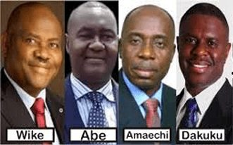 Photo of Four Circle Friends In Rivers; Wike, Ameachi, Abe And Peterside