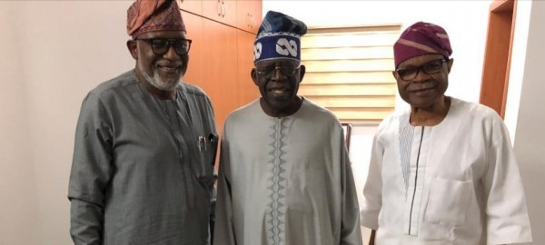 Photo of Akeredolu, Tinubu Meet, Resolve To Work Together