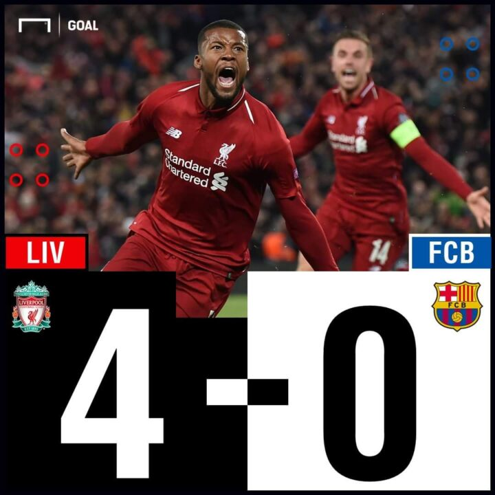 Photo of BREAKING: Liverpool humiliate Barcelona 4-0, qualify for Champions League final