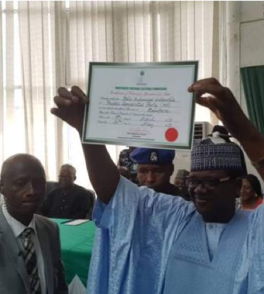 Photo of BREAKING: INEC presents certificate of return to Zamfara Governor-Elect