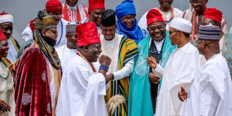 Photo of Kogi Monarchs Meet Buhari, Seek Support Yahaya Bello's For Second Term Bid