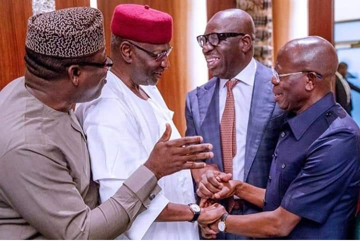 Photo of Obaseki Mend Fences With Oshiomole