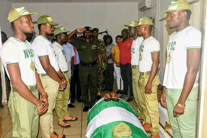 Photo of NYSC DG Pays Last Respect As Remains Of Precious Owolabi Leaves Abuja Hospital Mortuary