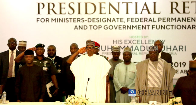 Photo of PHOTOS: Buhari attends presidential retreat for ministers-designate