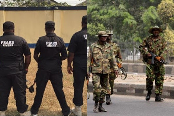 Photo of VIDEO: Drama As Soldier, SARS Officers Clash Over 'Yahoo Boys' N50m