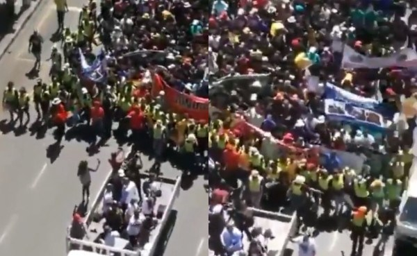 Photo of VIDEO: Xenophobic Attacks: South Africans Stage Demonstration To Beg Nigerians For Forgiveness