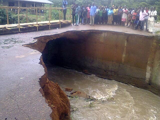 Photo of Bridge Collapses As Flash Flooding Hits Ekiti Community