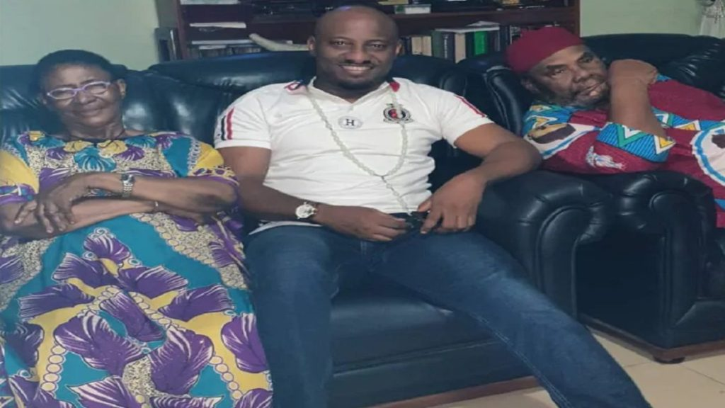 Photo of Yul Edochie pays visit to his veteran actor father Pete Edochie and mum