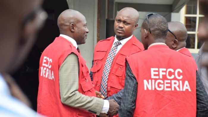 Photo of EFCC arrests 'Ibrahim Magu' in Port Harcourt