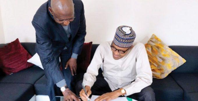 Buhari and Abba Kyari