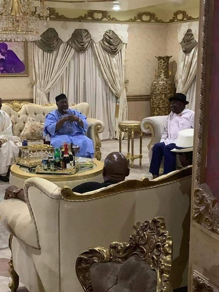Photo of APC Governors Visit Jonathan In his Otuoke Residence After Bayelsa Guber Election