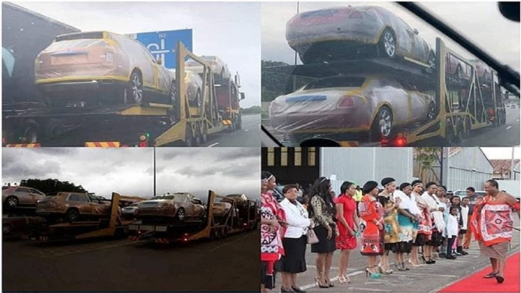Photo of PHOTOS: Despite People Living Poverty, Monarch Buys 19 Rolls Royce For His Wives
