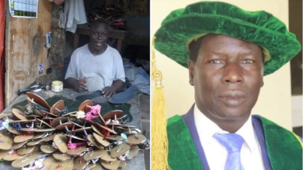 Photo of Incredible story of Professor Andrew Haruna vice chancellor of FUGA and former shoemaker