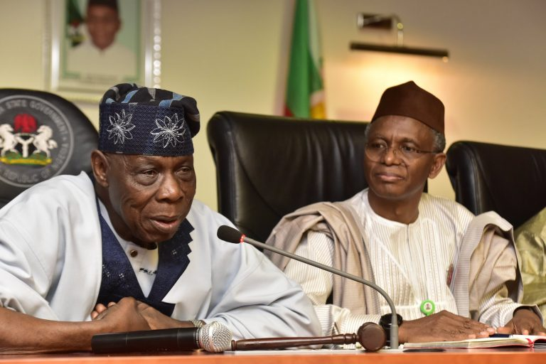Photo of PHOTOS: What Obasanjo said about El-Rufai after meeting in Kaduna