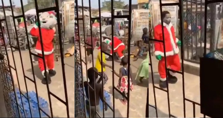 Photo of VIDEO: Lagos Children Beat Father Christmas That Showed Up Without Gifts