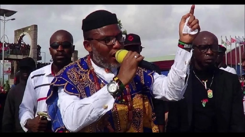 Photo of Kanu's parent burial: We'll hunt your children−Nnamdi Kanu threatens Police