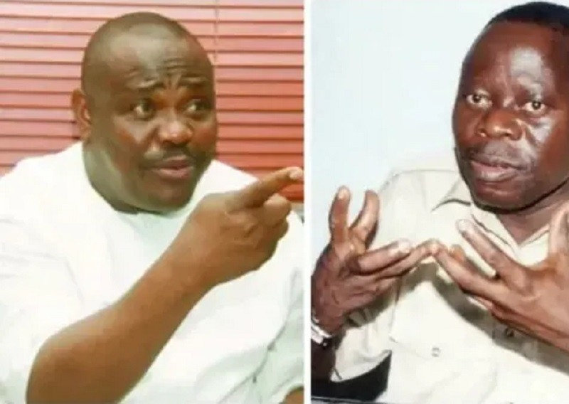 Photo of Gov Wike, Oshiomhole clash in Abuja