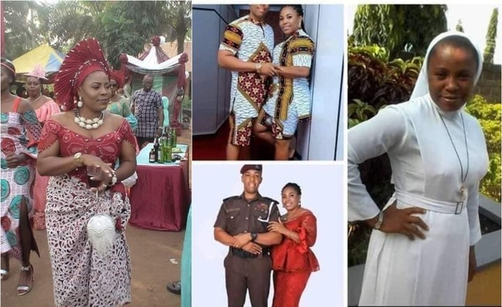 Photo of PHOTOS: Catholic Reverend Sister quits vocation marries policeman